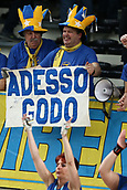 20th March 2018, PalaTrento, Trento, Italy; CEV Volleyball Champions League, playoffs, 1st leg; Trentino Diatec versus Chaumont VB 52 Haute Marne; Trento supporters