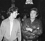 Michael O'Keefe and Albert Finney take in a Broadway Show in New York City. September 30, 1981