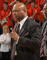 Florida State Seminoles head coach Leonard Hamilton during the game against Virginia in Charlottesville, Va.  Florida State defeated Virginia 63-60.
