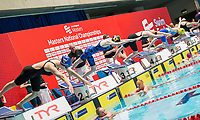 Picture By Allan Mckenzie/SWpix.com - 28/10/2017 - Swimming - Swim England Masters National Champs - Ponds Forge International Sports Centre, Sheffield, England - Womens open 50m freestyle heats dive in.