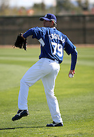 Jesus Castillo - Los Angeles Dodgers - 2009 spring training.Photo by:  Bill Mitchell/Four Seam Images