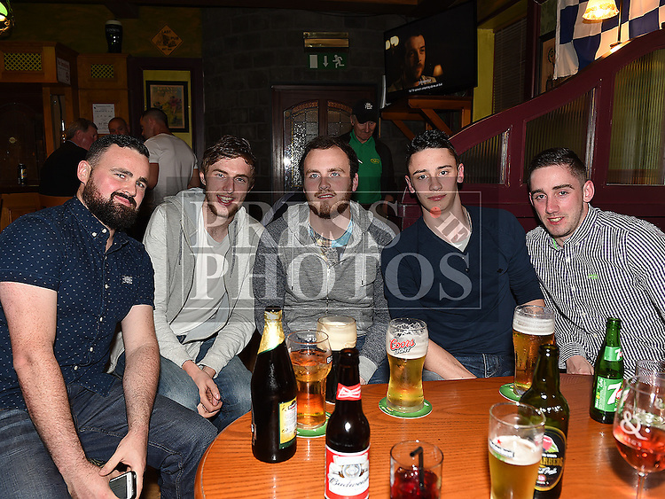 Donal Clarke, Colin Murphy, Steven Callan, Paul and Thomas Doyle pictured at the Lannleire Awards night at the Dunleer Inn. Photo:Colin Bell/pressphotos.ie