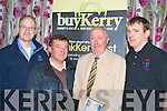 Pictured at the Killarney buyKerry launch in the Dromhall hotel Killarney, on Monday night were John Nelligan, The Cartridge Company, Paul O'Shea, Quality Hotel Killarney, Dan Joe O'Keeffe, O'Keeffe's Marquees and Mark Coyne MC Mobile Tyres.