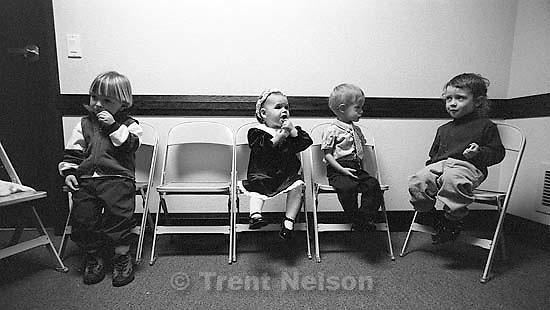 Snack time in LDS nursery class. Noah Nelson<br />