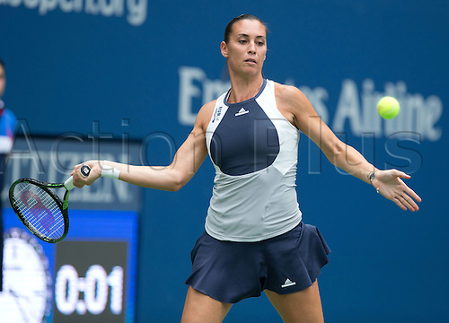 12.09.2015. Flushing Meadows, New York, USA.  US Open Tennis Championships. Womens Singles final. Pennetta versus Vinci.  Flavia Pennetta (ITA) won the final  7-6 (7-4) 6-2 and then announced her intention to retire at season end