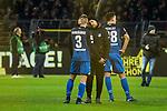 17.12.2017, Signal Iduna Park, Dortmund, GER, 1.FBL, Borussia Dortmund vs TSG 1899 Hoffenheim, <br /> <br /> im Bild | picture shows<br /> Pavel Kaderabek (TSG 1899 Hoffenheim #3) l&auml;sst sich von einem Hoffenheimer Betreuer tr&ouml;sten nach der sp&auml;ten Niederlage, <br /> <br /> Foto &copy; nordphoto / Rauch