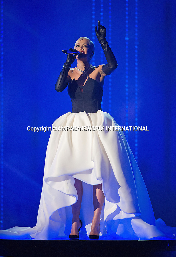 22.02.2015; Hollywood, California: 87TH OSCARS - RITA ORA<br /> performs during the Annual Academy Awards Live Telecast, Dolby Theatre, Hollywood.<br /> Mandatory Photo Credit: NEWSPIX INTERNATIONAL<br /> <br />               **ALL FEES PAYABLE TO: &quot;NEWSPIX INTERNATIONAL&quot;**<br /> <br /> PHOTO CREDIT MANDATORY!!: NEWSPIX INTERNATIONAL(Failure to credit will incur a surcharge of 100% of reproduction fees)<br /> <br /> IMMEDIATE CONFIRMATION OF USAGE REQUIRED:<br /> Newspix International, 31 Chinnery Hill, Bishop's Stortford, ENGLAND CM23 3PS<br /> Tel:+441279 324672  ; Fax: +441279656877<br /> Mobile:  0777568 1153<br /> e-mail: info@newspixinternational.co.uk