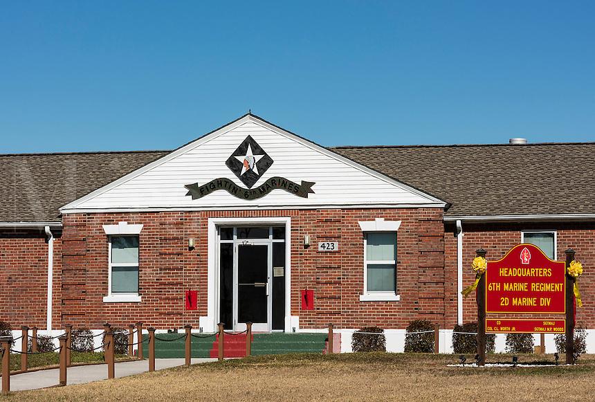 6th Marine Regiment Headquarters, Marine Corps Base Camp Lejeune, North Carolina, USA