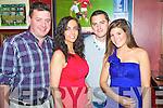 Enjoying the New Year's Eve celebrations in Corkerys Bar, Killarney on Friday night were John O'Leary, Mary O'Sullivan, Alan O'Brien and Jackie Simpson.