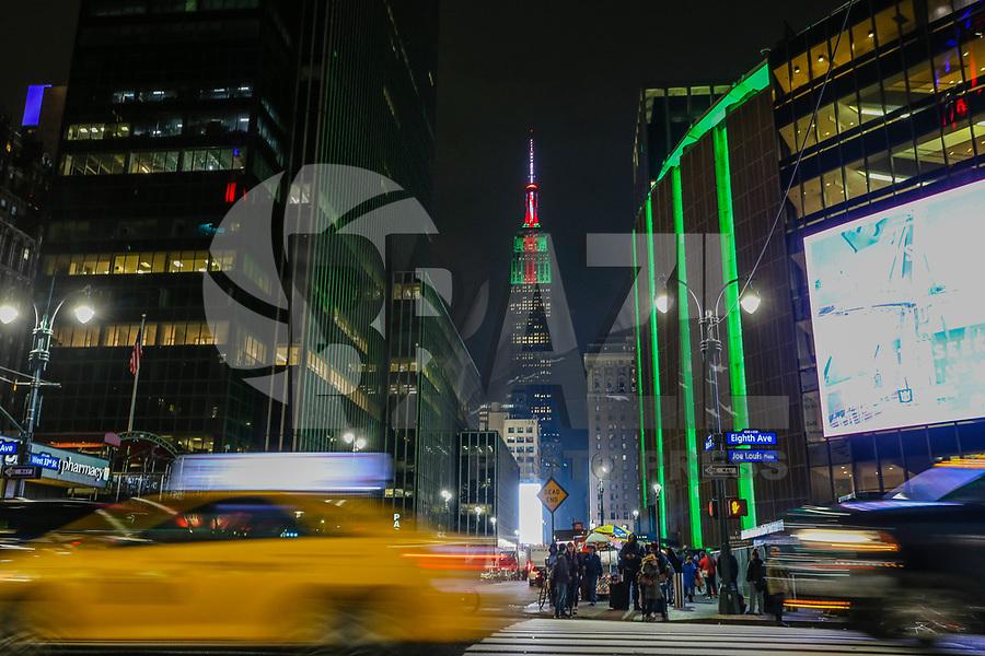 NOVA YORK, 04.01.2019 - EMPIRE-STATES - Vista do Empire State Building é um arranha-céu de 102 andares no centro de Manhattan, Nova York, na Quinta Avenida, entre as ruas 33ª e 34ª Oeste. Ele tem uma altura do telhado de 381 metros, mas com a sua torre de antena incluída, o edifício chega a 443 m de altura.(Foto: Vanessa Carvalho/Brazil Photo Press)