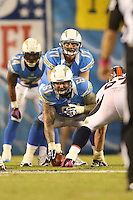 10/15/12 San Diego, CA: San Diego Chargers center Nick Hardwick #61 and quarterback Philip Rivers #17 during an NFL game played between the San Diego Chargers and the Denver Broncos at Qualcomm Stadium. The Broncos defeated the Chargers 35-24.
