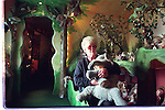 Bonnie Reine in her teddy bear house at Coomeenole, Dingle in 1987<br /> Picture: Don MacMonagle - macmonagle archive<br /> e: info@macmonagle.com