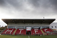 A general view of the Stand at Harlow Town during Harlow Town vs Dulwich Hamlet, Buildbase FA Trophy Football at The Harlow Arena on 11th November 2017