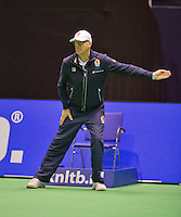 December 20, 2014, Rotterdam, Topsport Centrum, Lotto NK Tennis, Woman's semifinal, Linesman<br /> Photo: Tennisimages/Henk Koster
