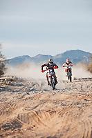 JCR Honda 1x Kendall Norman takes lead from KTM 4x Kurt Caselli near mile 30, 2011 San Felipe Baja 250