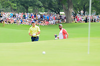 Jordan Spieth (USA) chips up close on 18 during round 4 of the Dean &amp; Deluca Invitational, at The Colonial, Ft. Worth, Texas, USA. 5/28/2017.<br /> Picture: Golffile | Ken Murray<br /> <br /> <br /> All photo usage must carry mandatory copyright credit (&copy; Golffile | Ken Murray)