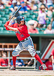 31 May 2018: Portland Sea Dogs infielder Nick Lovullo in action against the New Hampshire Fisher Cats at Northeast Delta Dental Stadium in Manchester, NH. The Sea Dogs rallied to defeat the Fisher Cats 12-9 in extra innings. Mandatory Credit: Ed Wolfstein Photo *** RAW (NEF) Image File Available ***