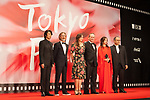 Members of the International Competition Jury, Masatoshi Nagase, Martin Provost, Victoria Jones, Tommy Lee Jones, Zhao Wei,  Reza Mirkarimi appears on the opening red carpet for The 30th Tokyo International Film Festival in Roppongi on October 25th, 2017, in Tokyo, Japan. The festival runs from October 25th to November 3rd at venues in Tokyo. (Photo by Michael Steinebach/AFLO)