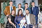 Little Jamie Dwyer Glasgow celebrated his christening with his parents Jocelyn and Dermot Dwyer (formerly Kilcummin) in the Killarney Oaks Hotel on Saturday, front row l-r: Marguerite McCarthy, Jamie,  Jocelyn and Dermot Dwyer. Back row: Jerry and Ester Dwyer, David and Anne Boyce