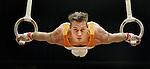 NLD-20050626-EMMEN-NK Turnen heren. Yuri van Gelder tijdens zijn nieuwe oefening aan de ringen.ANP FOTO/KOEN SUYK