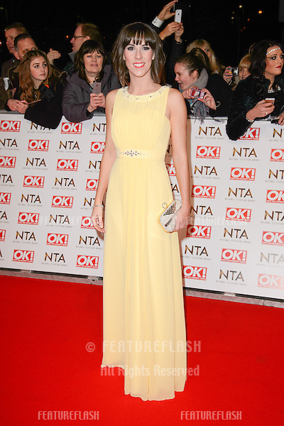 Verity Rushworth arrives for the National TV Awards 2015 at the O2 Arena, Greenwich London. 21/01/2015 Picture by: Steve Vas / Featureflash