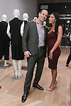 Noah Simon and Michelle Udrih attend the 3rd Annual Wives' Holiday Soiree at Totokaelo in SOHO on December 9, 2015.