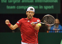 15-sept.-2013,Netherlands, Groningen,  Martini Plaza, Tennis, DavisCup Netherlands-Austria, fourth rubber,   Jurgen Melzer (AUT)<br /> Photo: Henk Koster