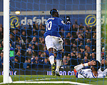 Romelu Lukaku of Everton celebrates his goal - Everton vs Crystal Palace - Barclays Premier League - Goodison Park - Liverpool - 07/12/2015 Pic Philip Oldham/SportImage