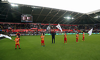 Children form a guard of honour during the Premier League match between Swansea City and Newcastle United at The Liberty Stadium, Swansea, Wales, UK. Sunday 10 September 2017