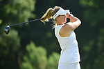 HOUSTON, TX - MAY 19: Kiira Riihijarvi of the University of Tampa tees off during the Division II Women's Golf Championship held at Bay Oaks Country Club on May 19, 2018 in Houston, Texas. (Photo by Justin Tafoya/NCAA Photos via Getty Images)