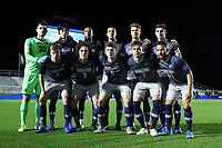 CARY, NC - DECEMBER 15: Georgetown University's Starting XI, Tomas Romero #30, Rio Hope-Gund #2, Paul Rothrock #3, Sean O'Hearn #4, Daniel Wu #5, Sean Zawadzki #6, Jacob Montes #7, JB Fischer #8, Derek Dodson #9, Dylan Nealis #12, and Zach Riviere #27 pose for a photo during a game between Georgetown and Virginia at Sahlen's Stadium at WakeMed Soccer Park on December 15, 2019 in Cary, North Carolina.