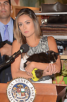 LOS ANGELES, CA - OCTOBER 18: Press Conference Celebrating The Passing of Bill 485 at a press conference to celebrate the passing of Bill 485 banning the selling of pets in retail outlets at the Healthy Spot in Los Angeles, California on October 18, 2017. Credit: David Edwards/MediaPunch /NortePhoto.com