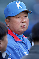 Dong-yeol Sun of Korea during the World Baseball Championships at Angel Stadium in Anaheim,California on March 15, 2006. Photo by Larry Goren/Four Seam Images