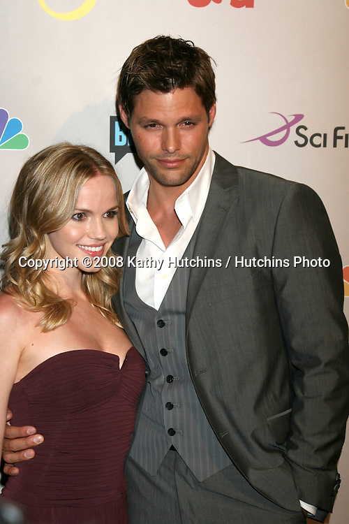 Alexa Havins & Justin Bruening  arriving at the NBC TCA Party at the Beverly Hilton Hotel  in Beverly Hills, CA on.July 20, 2008.©2008 Kathy Hutchins / Hutchins Photo .