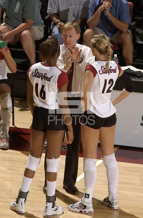 24 September 2005: John Dunning during Stanford's 30-22, 31-29, 30-26 win against UCLA Bruins at Maples Pavilion in Stanford, CA.