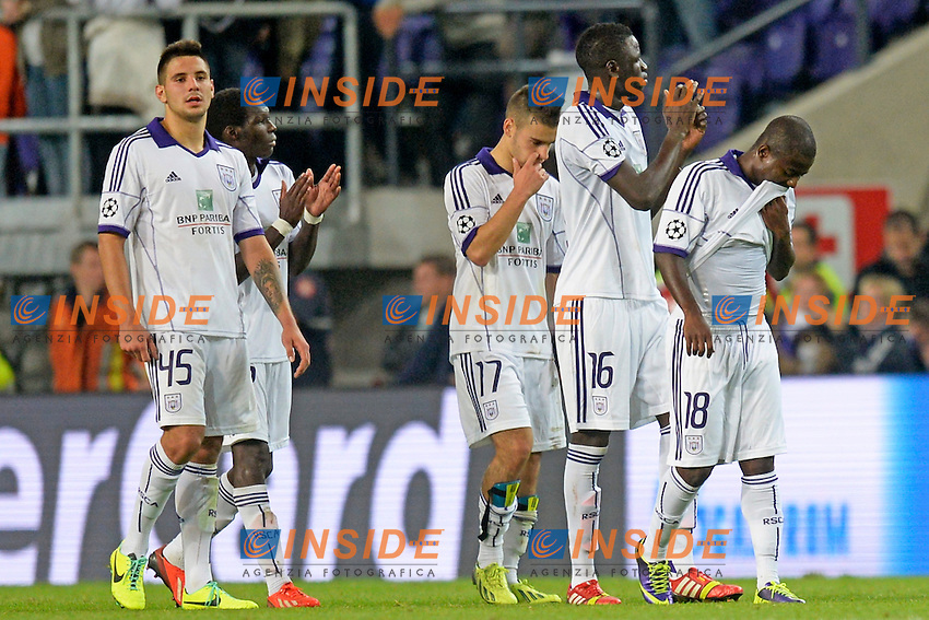deception  Anderlecht  <br /> Bruxelles 2/10/2013 <br /> Football 2013/2014 Champions League<br /> Anderlecht - Olimpiacos <br /> Foto Insidefoto<br /> ITALY ONLY