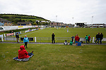 Aberystwyth Town 1 Newtown 2, 17/05/2015. Park Avenue, Europa League Play Off final. Fans watching Aberystwyth Town attack. Aberystwyth finished 14 points above Newtown in the Welsh Premier League, but were beaten 1-2 in the Play Off Final. Photo by Paul Thompson.