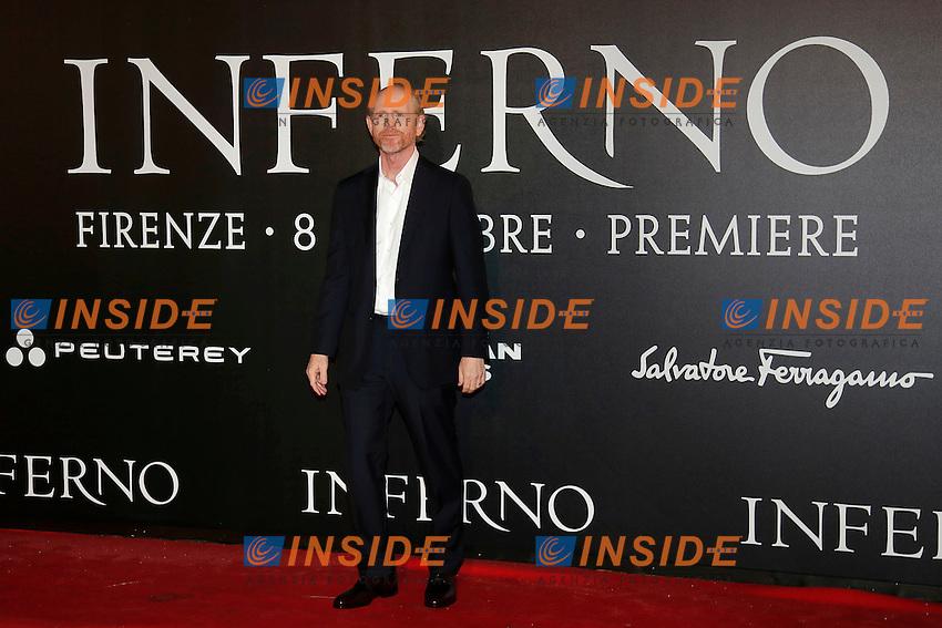 Ron Howard<br /> Firenze 08-10-2016. 'Inferno' Anteprima Mondiale.<br /> Florence 8th October 2016. 'Inferno' World Premiere.<br /> Foto Samantha Zucchi Insidefoto