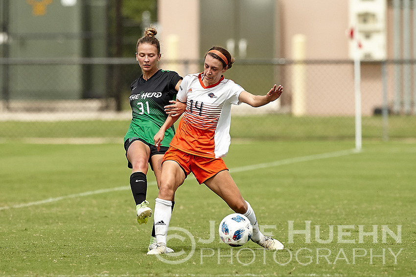 SAN ANTONIO, TX - OCTOBER 7, 2018: The University of Texas at San Antonio Roadrunners defeat the Marshall University Thundering Herd 2-0 at the Park West Athletics Complex. (Photo by Jeff Huehn)