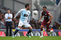 Blackburn Rovers' Danny Graham and Aston Villa's Neil Taylor<br /> <br /> Photographer Rachel Holborn/CameraSport<br /> <br /> The EFL Sky Bet Championship - Blackburn Rovers v Aston Villa - Saturday 15th September 2018 - Ewood Park - Blackburn<br /> <br /> World Copyright &copy; 2018 CameraSport. All rights reserved. 43 Linden Ave. Countesthorpe. Leicester. England. LE8 5PG - Tel: +44 (0) 116 277 4147 - admin@camerasport.com - www.camerasport.com
