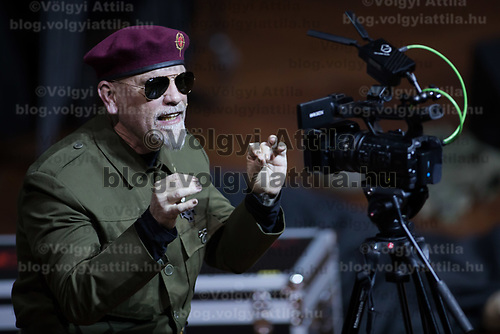 US actor John Malkovich plays a dictator in his piece Just Call Me God in Budapest, Hungary on April 4, 2017. ATTILA VOLGYI