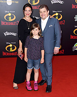 05 June 2018 - Hollywood, California - Meredith Salinger, Patton Oswalt. Disney Pixar's &quot;Incredibles 2&quot; Los Angeles Premiere held at El Capitan Theatre. <br /> CAP/ADM/BT<br /> &copy;BT/ADM/Capital Pictures