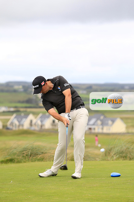 Alan Lowry (Esker Hills) on the 2nd tee during Round 2 of The South of Ireland in Lahinch Golf Club on Sunday 27th July 2014.<br /> Picture:  Thos Caffrey / www.golffile.ie