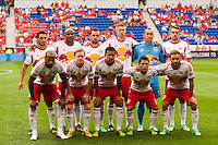 New York Red Bulls starting eleven. The New York Red Bulls defeated the Houston Dynamo 2-0 during a Major League Soccer (MLS) match at Red Bull Arena in Harrison, NJ, on June 30, 2013.