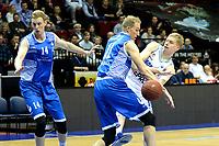 GRONINGEN - Basketbal, Donar - Landstede Zwolle, Martiniplaza, Dutch Basketbal league, seizoen 2018-2019, 02-02-2019, Donar speler Rienk Mast met Landstede speler Kevin Bleeker