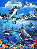 Interlitho, Lorenzo, FANTASY, paintings, jumping dolphins, KL, KL3856,#fantasy# illustrations, pinturas