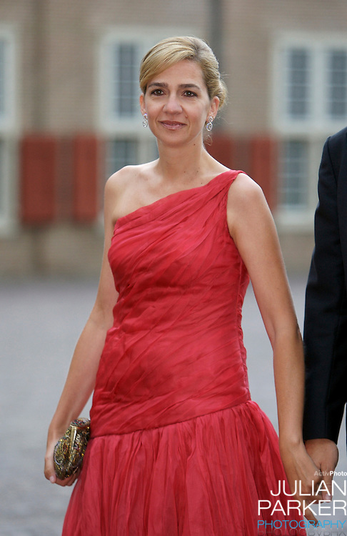 Infanta Cristina of Spain,arrives for a Reception at Het Loo Palace in Apeldoorn, to celebrate the 40th Birthday of Crown Prince Willem Alexander, The Prince turned forty in April earlier this year.