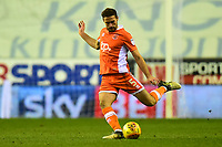Blackpool's Clark Robertson in action<br /> <br /> Photographer Richard Martin-Roberts/CameraSport<br /> <br /> The EFL Sky Bet League One - Wigan Athletic v Blackpool - Tuesday 13th February 2018 - DW Stadium - Wigan<br /> <br /> World Copyright &not;&copy; 2018 CameraSport. All rights reserved. 43 Linden Ave. Countesthorpe. Leicester. England. LE8 5PG - Tel: +44 (0) 116 277 4147 - admin@camerasport.com - www.camerasport.com