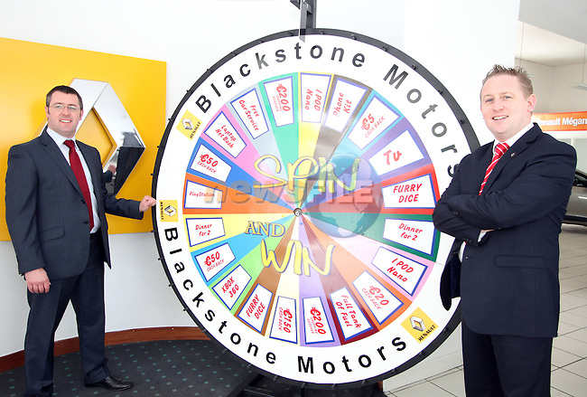 Spin the Wheel at Blacksone Motors...Picture Jenny Matthews/Newsfile.ie
