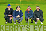 Mike Moloney, Abbeydourney, John Ahern Abbefeale, Billy Moriarty Fenit and Brendan Keehan Tralee who competed in the Build4Life golf classic in Castleisland golf course on Sunday ....
